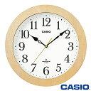 カシオ ウェーブセプター 壁掛け電波時計 1108J (白木) アナログ 電波受信機能 ◆2015年モデル