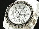 【J.HARRISON】 メンズクロノグラフ腕時計 JH-005WH