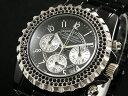 【J.HARRISON】 メンズクロノグラフ腕時計 JH-005BSV