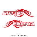 CB1300 カッティング ステッカー 左右セット バイク ステッカーボム ステッカー デカール シール カスタム / ヘルメット サイドバッグ リアボックス / ウイング 羽 翼 風 / cb1300sf sc40 sc54 cb1300sb honda ホンダ / 10P05Aug17