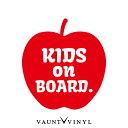 リンゴ kids on board ステッカー kids in car ステッカー 車 シール / ベビーインカー 赤ちゃんが乗っています 子供が乗っています / リンゴ りんご アップル apple / ハスラー アクア タント NBOX bB プリウス / 吸盤 マグネット 非対応 / 10P05Aug17