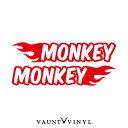フレイム モンキー カッティング ステッカー 左右セット モンキー monkey パーツ マフラー シート タンク honda ホンダ / バイク ステッカーボム ステッカー デカール シール カスタム / ヘルメット サイドバッグ リアボックス