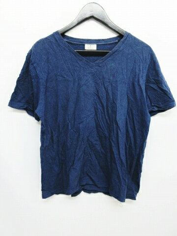 エディフィス EDIFICE Tシャツ カットソー 半袖 Vネック ネイビー サイズ48 13071300301630 メンズ 【中古】【ベクトル 古着】 180314 ベクトル マークスラッシュ
