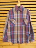 ビックマック BIGMAC コットン100%長袖ネルシャツ チェックシャツM ブランド古着ベクトル 中古●160925 0005B