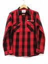 アヴィレックス AVIREX シャツジャケット バックプリント チェック 厚手 赤 黒 XL