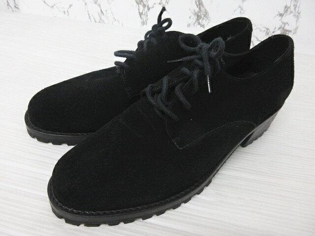 ... 革靴黒ブラック61/2レディース