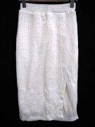 リエンダ rienda ニット ロング スカート タイト オフホワイト 白系 F 180119YK レディース 【中古】【ベクトル 古着】 180119 ブランド古着ベクトルプレミアム店