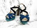 トゥズー tozoo 靴 サンダル パンプス 皮革 23.5 ブルー レディース 【ベクトル 古着】【中古】 160603