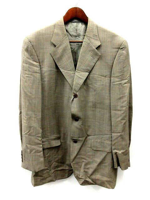 ヘンリーコットンズ HENRY COTTON'S ジャケット テーラード チェック ウール 52 グレー /SR43 メンズ 【中古】【ベクトル 古着】 171216 ブランド古着ベクトルプレミアム店