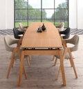 ダイニングセット 6人 ダイニングテーブル 伸縮 伸縮テーブル 伸長 北欧 スライド式 天然木 オーク 7点セット 幅140-240