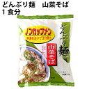無添加 どんぶり麺 ノンカップメン 山菜そば 1食分 ×24袋 国産小麦粉使用