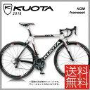 【特価セール】【送料無料】【特典付】ロードレーサー 2016年モデル KUOTA クオータ KOM frameset ケーオーエムフレームセット ホワイトレッド(10001209)