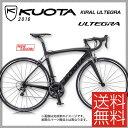 (特価セール)(特典付)ロードレーサー 2016年モデル KUOTA クオータ KIRAL ULTEGRA キラルアルテグラ ブラックオンブラック(10001217)