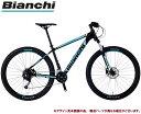 マウンテンバイク 2021 BIANCHI ビアンキ MAGMA 7.2 マグマ7.2 BLACK(6B) 18段変速 SHIMANO 2×9SP ホイール径27.5インチ 油圧ディスクブレーキ