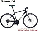 (570mm有り)クロスバイク 2021 BIANCHI ビアンキ ROMA 3 DISC ローマ3ディスク BLACK/SILVER DECAL 16段変速 SHIMANO 2X8SP 700C 油圧ディスクブレーキ