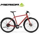 (選べる特典付)クロスバイク 2020 MERIDA メリダ CROSSWAY URBAN 100 クロスウェイアーバン100 マットクリスマスレッド(ライトレッド)【ER34】 泥除け標準装備