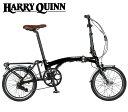 (折り畳んだ状態で発送) 折り畳み HARRY QUINN PORTABLE EーBIKE ハリークイン ポータブル Eバイク ブラック 16インチ 電動アシスト自転車
