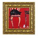 取寄品 ドミンゲス ネズミのおでまし Sサイズ 額付きポスター インテリアアート 猫