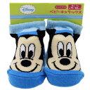 ベビーソックス 新生児はじめての靴下 ミッキーマウス ストライプ ディズニー雑貨 赤ちゃんくつした 通販 ベルコモン