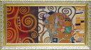 【取寄品】 グスタフ・クリムト 名画 額付きポスター 抱擁 ユーパワー 69.5×38.5cm デコパネルコレクション インテリア雑貨