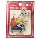 ショッピング手芸 ウッドボタン ブローチ アトリエボヌールドゥジュール バッジ 木製 ピアノ 楽譜 ハートアートコレクション 手芸 雑貨 おしゃれ フランス製 メール便可