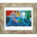 Marc Chagall 名画 マルク・シャガール ll concerto 1957 美工社 ZFA-61794 37.8×31.8×1.5cm ギフト 額付きインテリア 【取寄品】