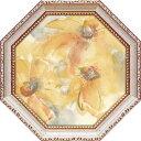 八角 ミニゲル アートフレーム フラワー アート クリス パシュケ ゴールデン クレマチス2 CP-02554 19.5x19.5cm 花 ギフト 額付きポスターインテリア 取寄品