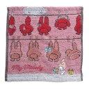 ジャガード ハンカチタオル ミニタオル マイメロディ マイメロのお洗濯 サンリオ 丸眞 25x25cm プレゼント 通販 メール便可