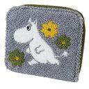 ショッピング北欧 サガラ刺繍 カードケース コインケース ムーミン グレー 北欧 サンスター文具 プレゼント メール便可