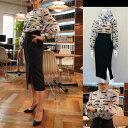 VELLA ベラ 保奈美さん着用  SUITS 2 ドラマスーツ バレンシアガ生地使用ブラウス!  ブラウスとスカートのセット(品番301−2603)