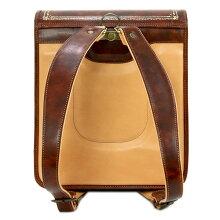 イタリア・フィレンツェ職人手作りの逸品Peroniペローニ最高級本革ランドセルブライアーブラウン/金装飾入り