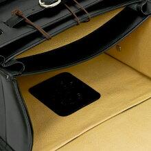 イタリア・フィレンツェ職人手作りの逸品Peroniペローニ最高級本革ランドセルネロ/黒/装飾入