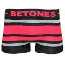 BETONES(ビトーンズ)BREATH BLACK(ブラック・レッド)ボクサーパンツ フリーサイズ 男性下着 メンズ アンダーウェア ギフト 誕生日プレゼント 【雑誌LEON,OCEANS掲載】