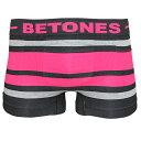 【再入荷】BETONES(ビトーンズ)BREATH BLACK(ブラック・ピンク)ボクサーパンツ フリーサイズ 男性下着 メンズ アンダーウェア ギフト 誕生日プレゼント 【雑誌LEON,OCEANS掲載】