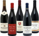 【送料無料】 赤ワイン ワインセット ギフト ブルゴーニュ有名蔵!すべて激ウマ赤5本セット≪第103