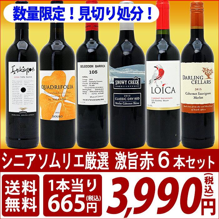 【送料無料】シニアソムリエ厳選 直輸入 激旨赤ワイン6本セット【ワインセット】^W0AFD6SE^
