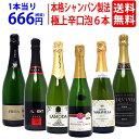 ▽   全て本格シャンパン製法 極上辛口泡6本セット ワインセット スパークリング ^W0A5F0SE^