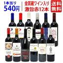 【送料無料】ワイン誌高評価蔵や金賞蔵ワインも入った激旨赤12...