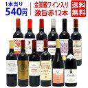 【送料無料】ワイン誌高評価蔵や金賞蔵ワインも入った激旨赤12本セット ワインセット