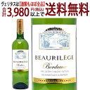 ショッピングワイン 金賞 よりどり6本で送料無料 [2018] ボーリレージュ ブラン 750ml(AOPボルドー フランス)白ワイン コク辛口 ワイン^AOBW1118^