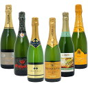 ワインセット 送料無料贅沢オーガニック入り すべて本格シャンパン製法の辛口 厳選極上の泡6本セット ギフト wine gift パーティ 料理に合う 安くて美味しい W0GAB7SE