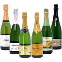 【送料無料】すべて本格シャンパン製法の辛口厳選極上の泡6本セット贅沢オーガニック入りワインセットスパークリング^W0GAB8SE^
