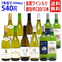 ワイン ワインセットワイン誌高評価蔵や金賞ワインも入った辛口白12本セット 送料無料 (6種類各2本) 飲み比べセット ギフト ^W0ZS52SE^