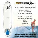 2015 BIC 7'6 Mini NOSERIDER [DURA-TEC] ファンボード フィン付き!【ビック】サーフボード mtp5