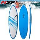 16 NSP Elements Hybrid Short Surf 6'6 Blue フィン付!ショートボード