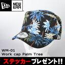 ニューエラ NEWERA 帽子 キャップ WM-01 ワークキャップ Palm Tree ブラックパームツリー 11225643