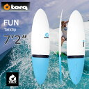 ラスト【1品のみ】torq(トルク)7'2 Fun Taildip white + blue tailエポキシ製ファンボード フィン付き!【last_sf】 mtp5