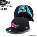 ショッピング初音ミク キャップ 帽子 ニューエラ NEW ERA 59FIFTY 初音ミク HATSUNE MIKU コラボ ロゴタイプ ブラック あす楽