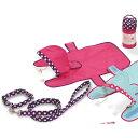 寵物, 寵物用品 - 雨の日ポーチ コンビカラー ピンク S【在庫限り】【あす楽】