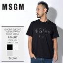 \マラソンSALE/【メール便可】 【MSGM】 エムエスジーエム Tシャツ 半袖 メンズ ストリート ブランド カジュアル ショートスリーブ ウィズ ペイント ロゴ SHORT SLEEVE T-SHIRT WITH PAINT LOGO ペイント